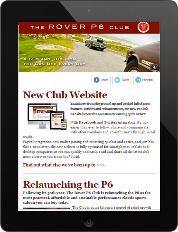 Rover P6 Club eNewsletter