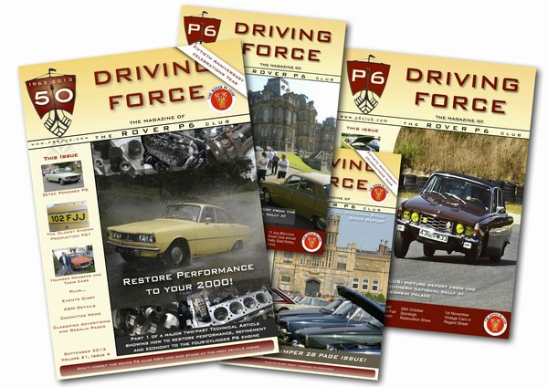 Rover P6 Club Driving Force Magazine