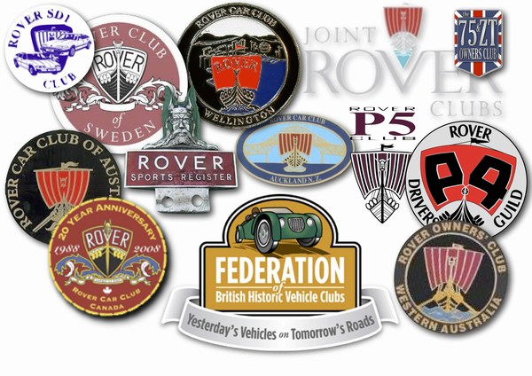 Clubs associated with the Rover P6 Club